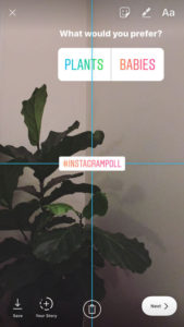 Instagram Story Alignment Feature