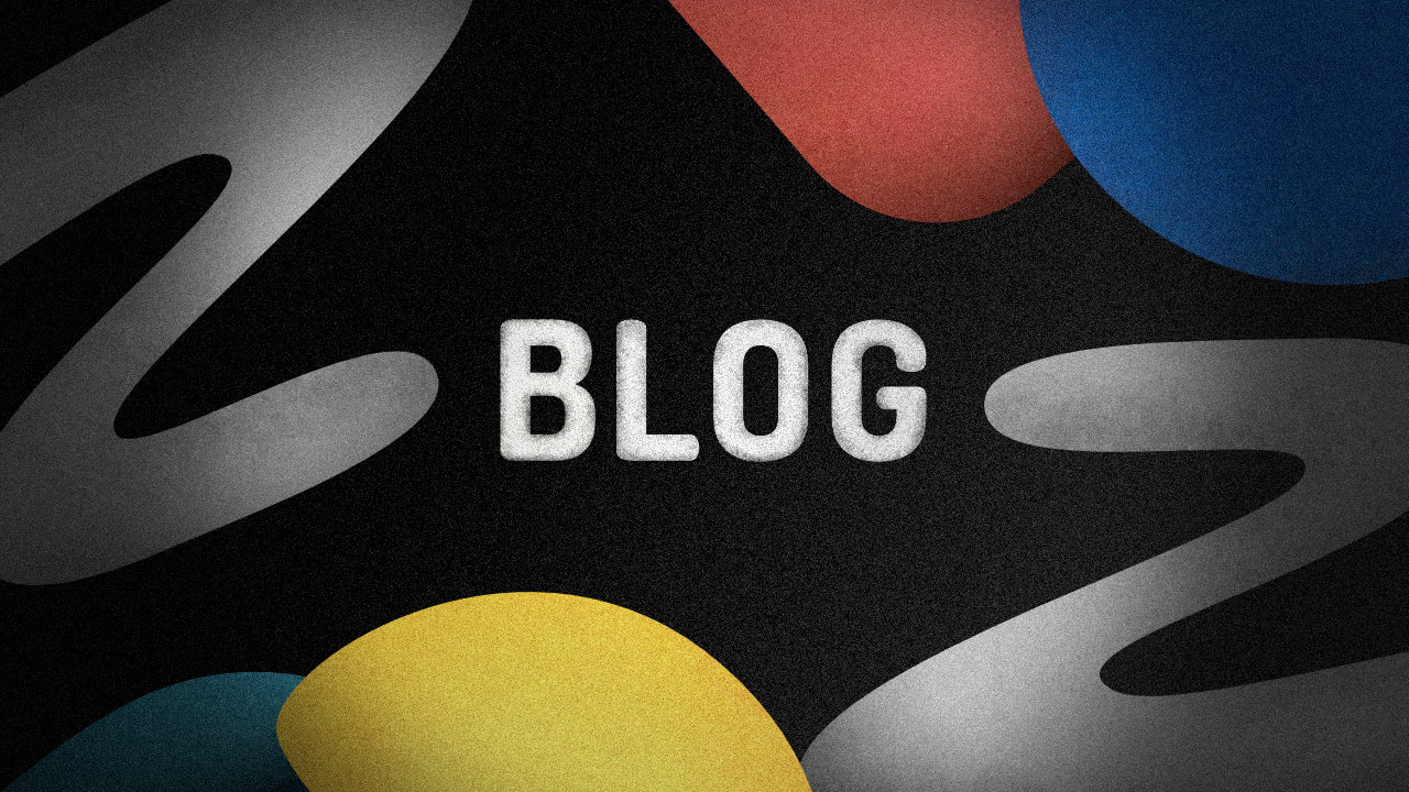 the word BLOG with some shapes around